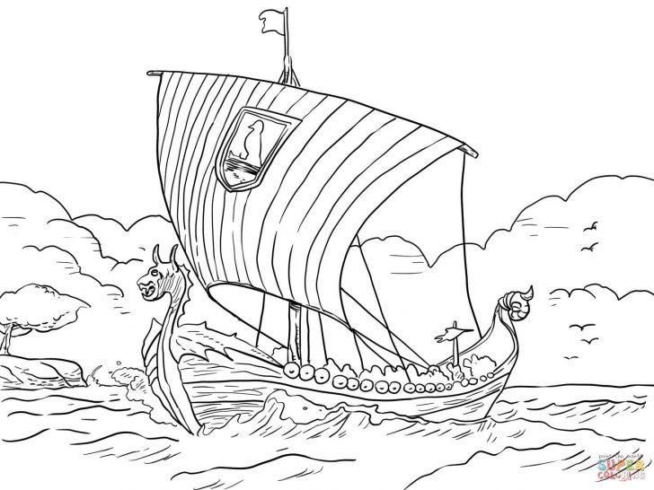 728x546 Viking Ship Coloring Pages Page Pdf Free Minnesota Vikings