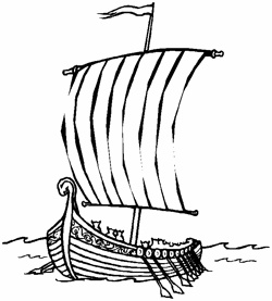 Viking Longship Drawing