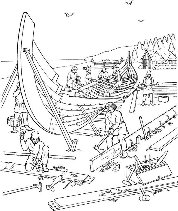 Viking Longship Drawing at GetDrawings.com | Free for personal use ...