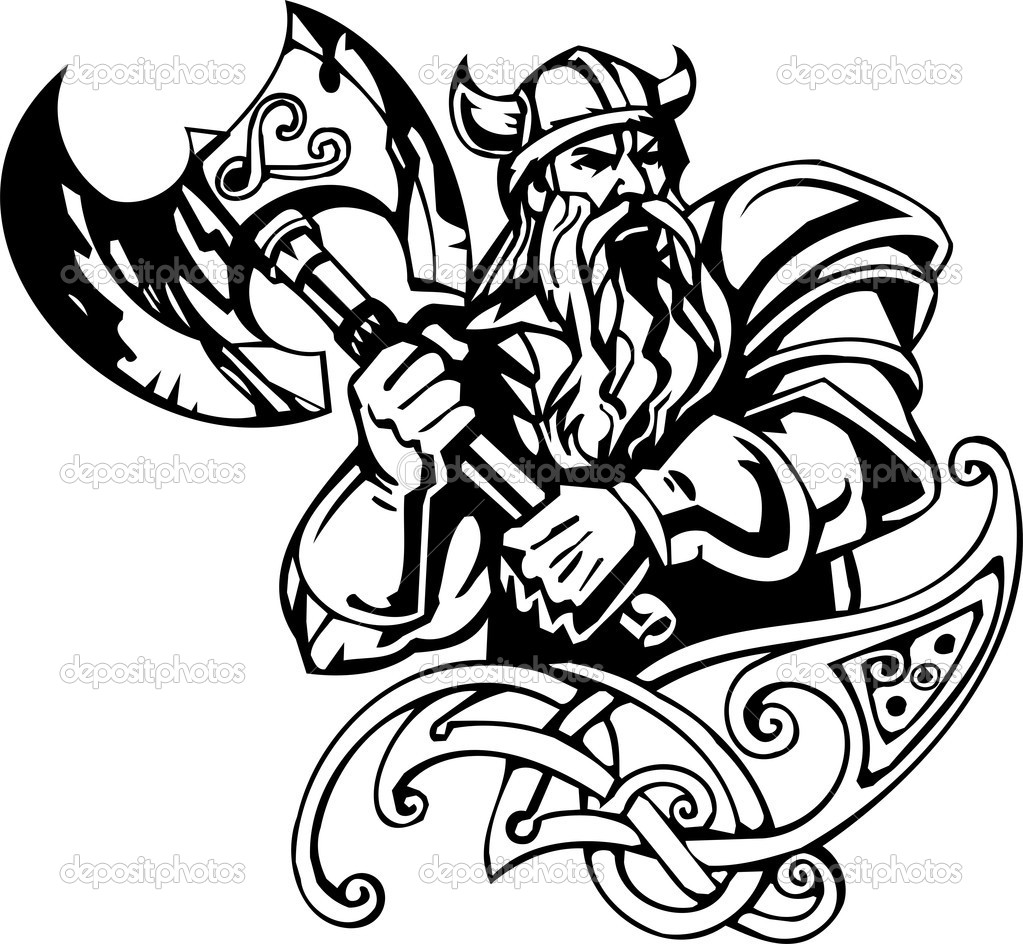 1023x944 Drawn Viking Vector