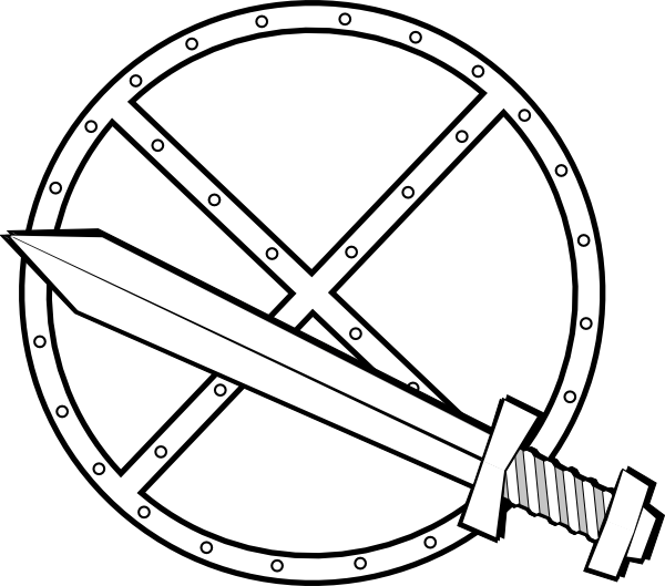 600x529 Jonadab Round Sword And Shield Clip Art