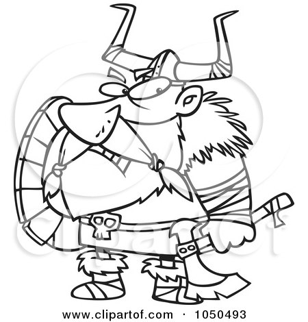 450x470 Royalty Free (Rf) Clip Art Illustration Of A Grumpy Viking Holding