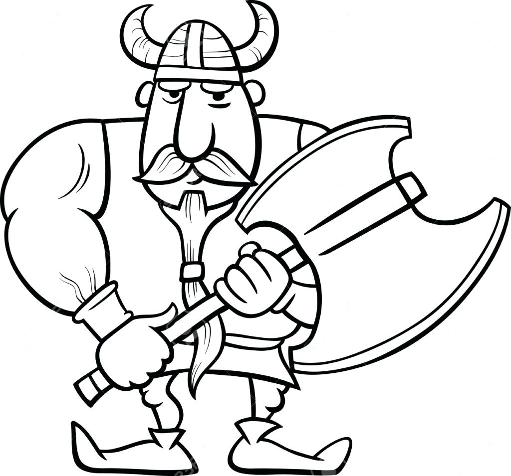 1024x955 Coloring Vikings Coloring Pages Cartoon Vector Of A Happy Singing