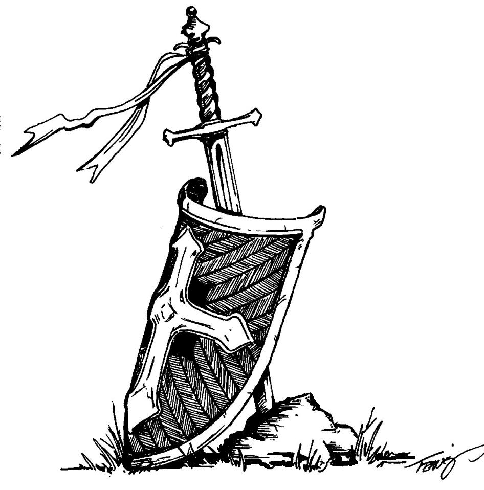 946x958 Medieval Sword And Shield