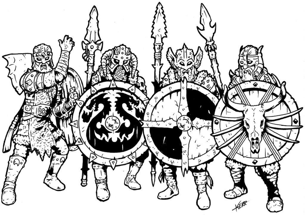 1024x720 Brutal Viking Shield Wall By Thewog