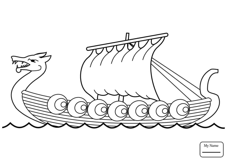 Viking Ship Drawing at GetDrawings
