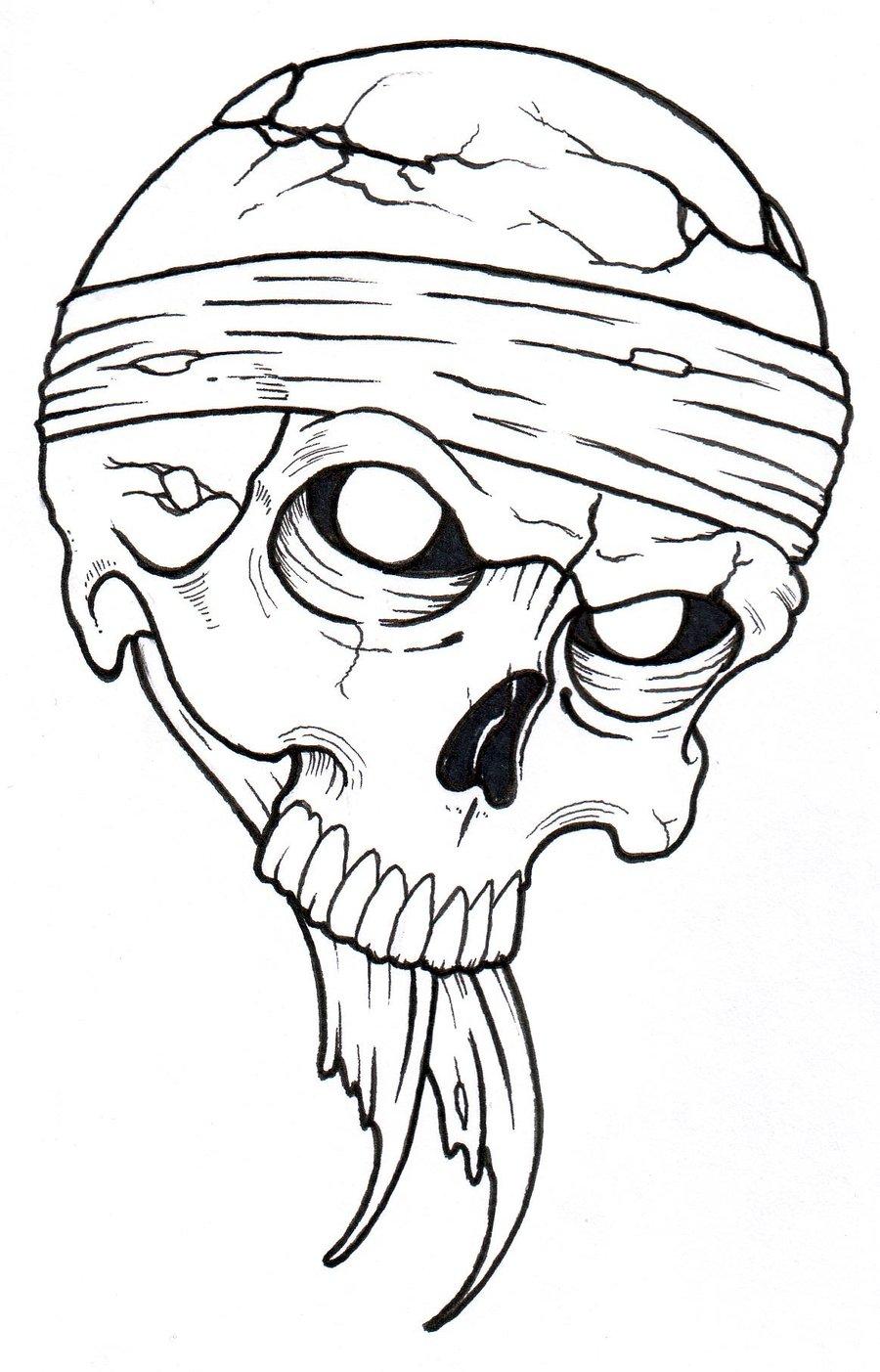 Viking Skull Drawing at GetDrawings   Free download