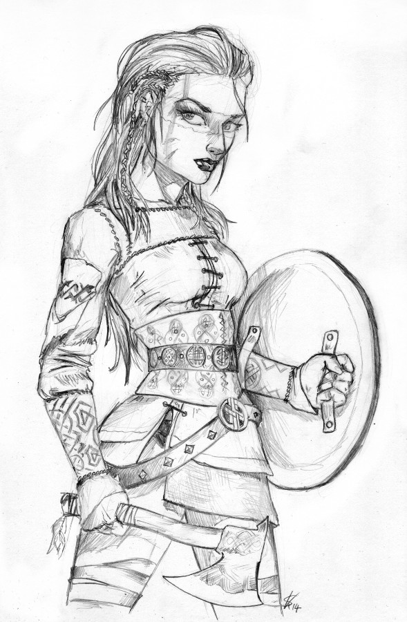 589x900 Female Viking Warrior By Dinoforce