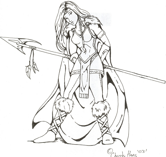 546x517 Viking Spear Woman By Avadrea