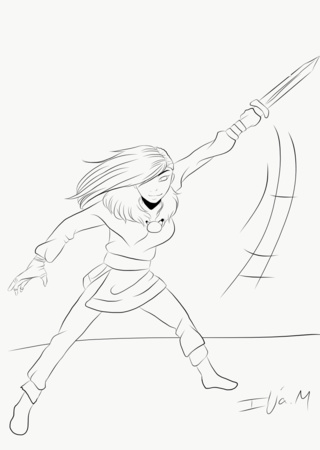 320x450 Swordfight Drawings On Paigeeworld. Pictures Of Swordfight