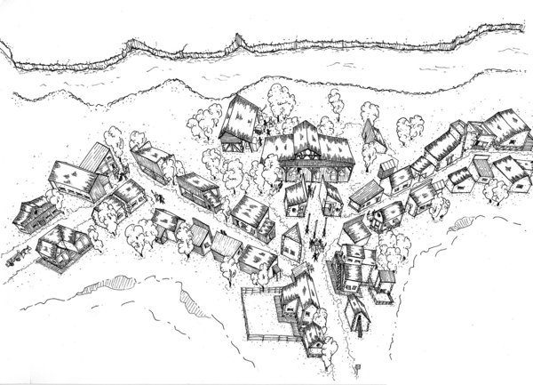 600x433 Village. isometric view by Fred73fr on DeviantArt