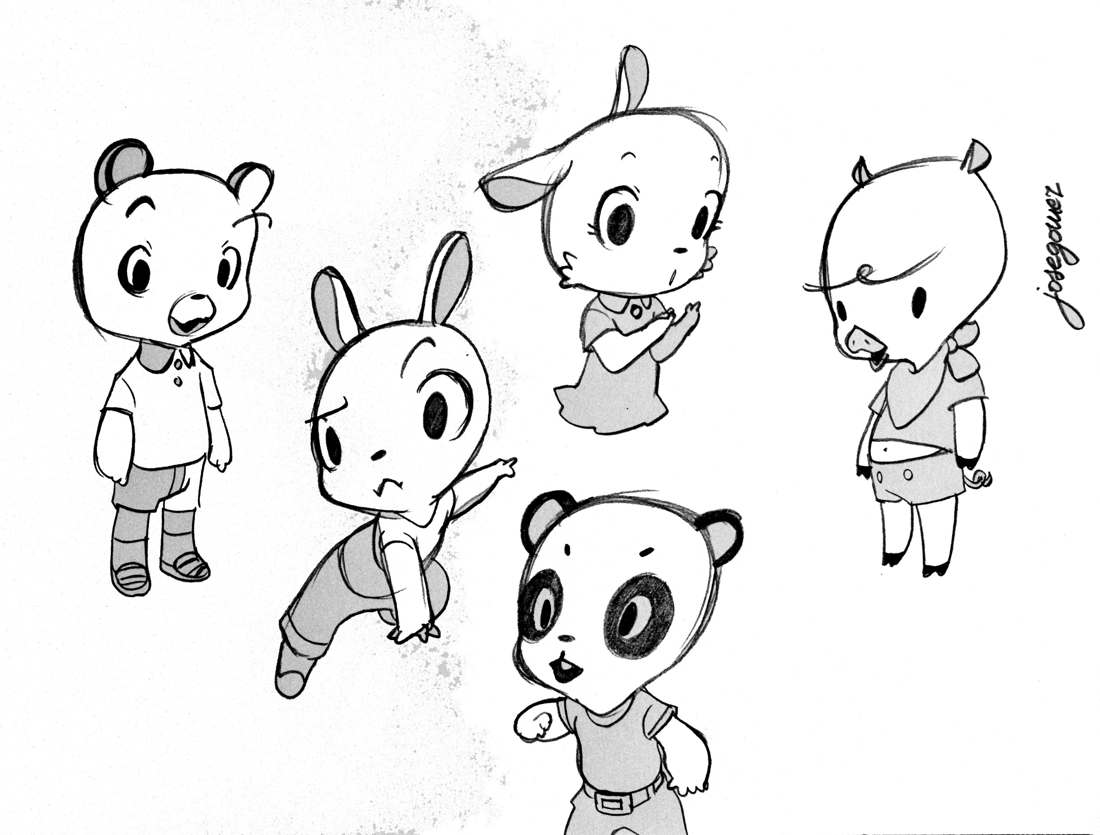 3516x2670 Village sketches. By Jose Gomez Obra Propia. Ilustracion.Cuadros