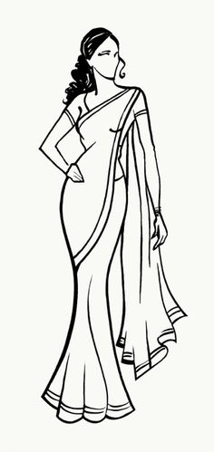 236x499 Woman In Saree, Pencil Sketch Drawings Sketches