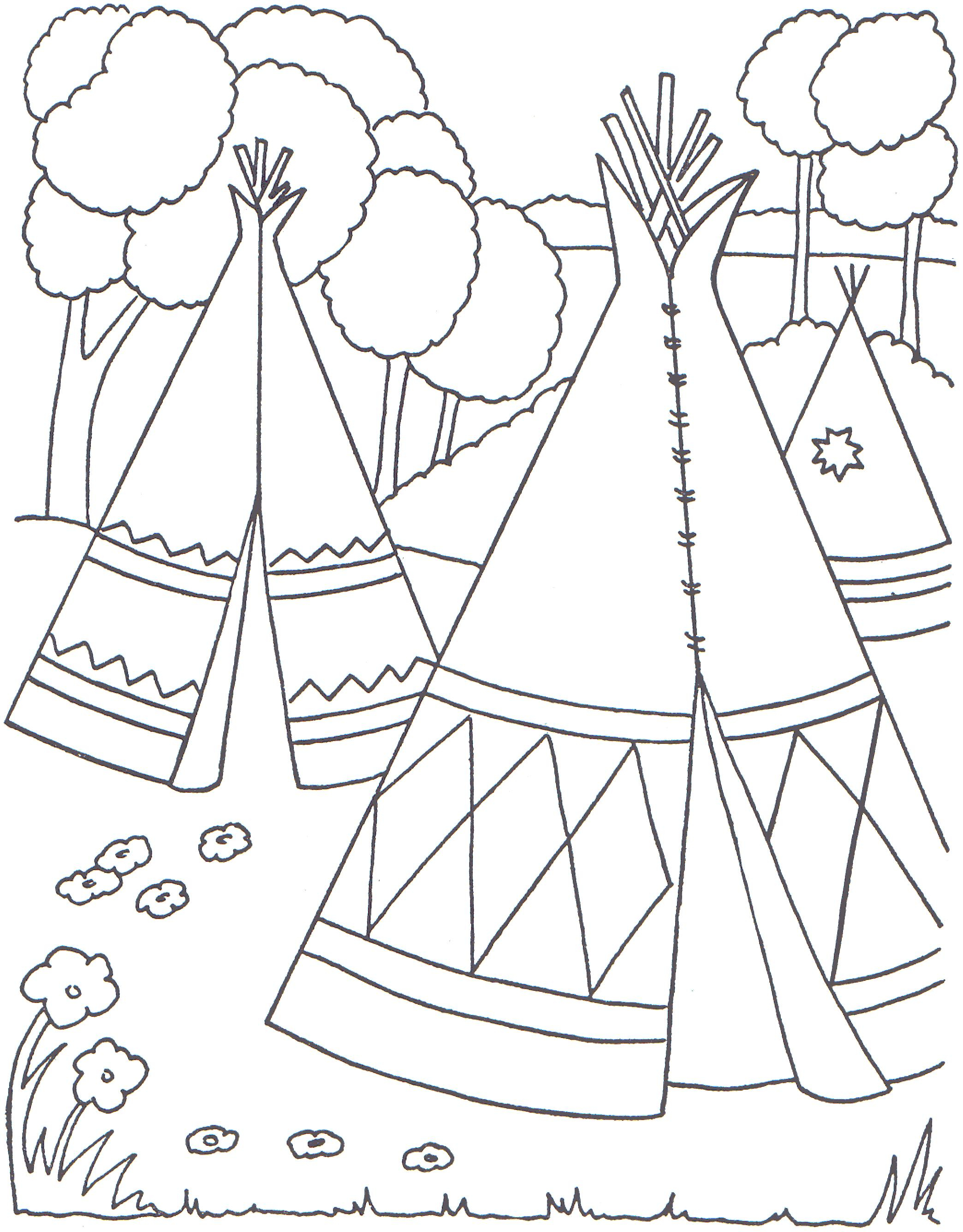 2088x2672 Indian Village Coloring Pages