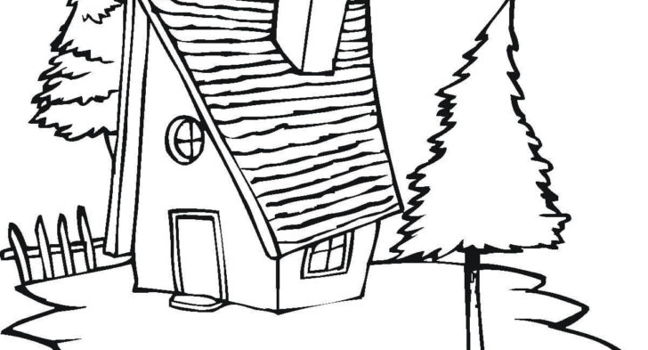728x393 Village Scene Coloring Pages Village Scenery Drawing For Kids