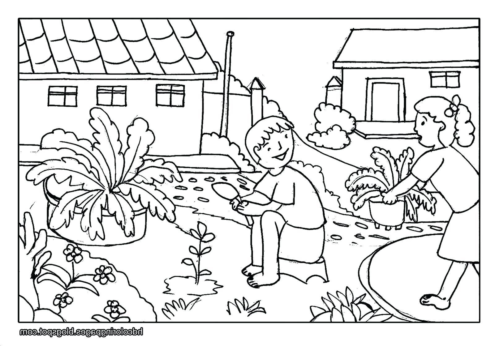 free scenery coloring pages - photo#25