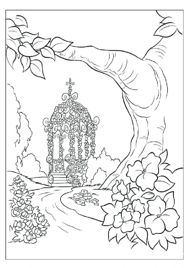 618x875 Coloring Pages Marvelous Scenery Coloring Pages. Printable Jungle