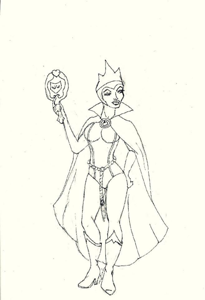 658x960 Super Villain Evil Queen Drawing Art Evil Queens
