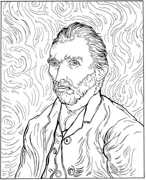 474x585 30 Kleurplaten Van Vincent Van Gogh Op Kids N Fun.nl. Op Kids N