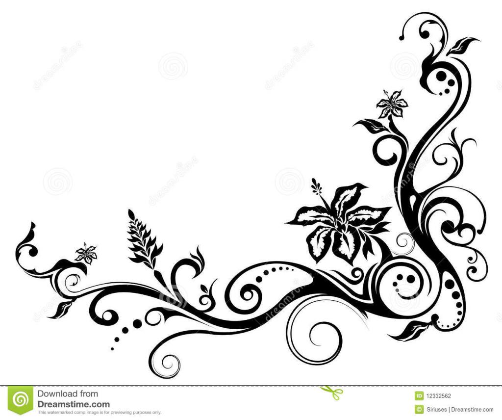 1024x856 Flower Vine Drawing Tulip Flower Tattoo Designs Drawings
