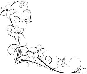 300x256 Flowers Vine Leg Tattoo For Girls