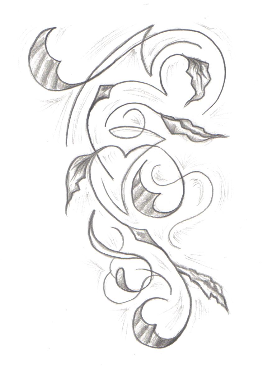 845x1200 Tribal Vine By Undergroundtattoos On Vine Tattoo