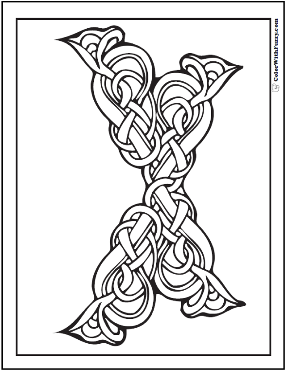 590x762 Celtic Knot Designs Vines And Floral Pattern