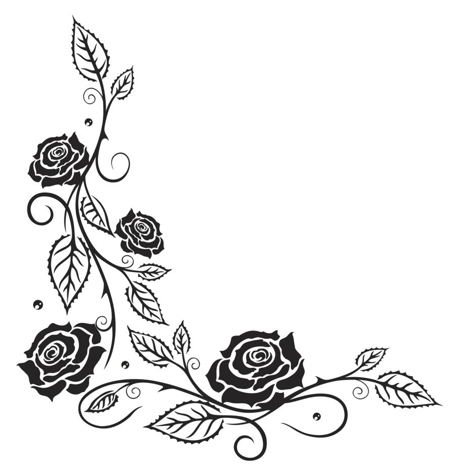 900x936 Tattoo Flower Vine Coloring Page And Branches Pages