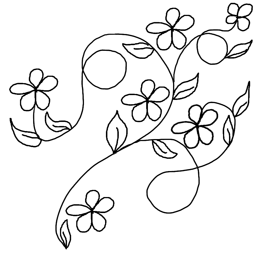 Flower Vine Line Drawing : Vines and flowers drawing at getdrawings free for