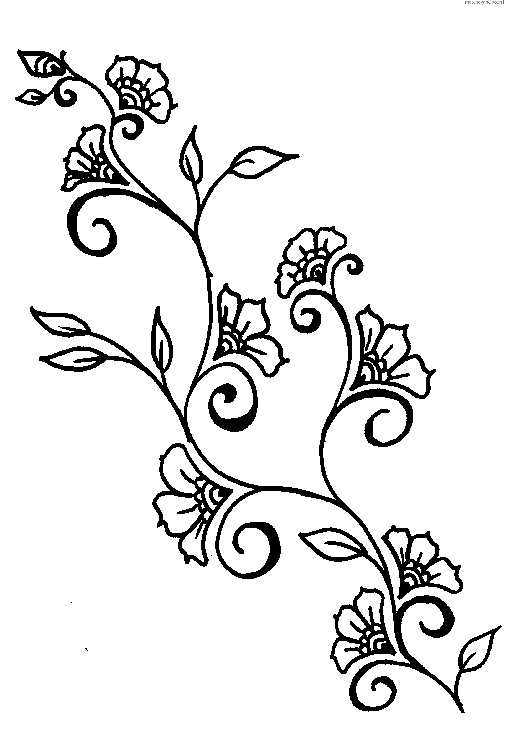 2130x3068 Drawings Of Vines And Flowers Easy Drawing At Getdrawings Free For Personal Use