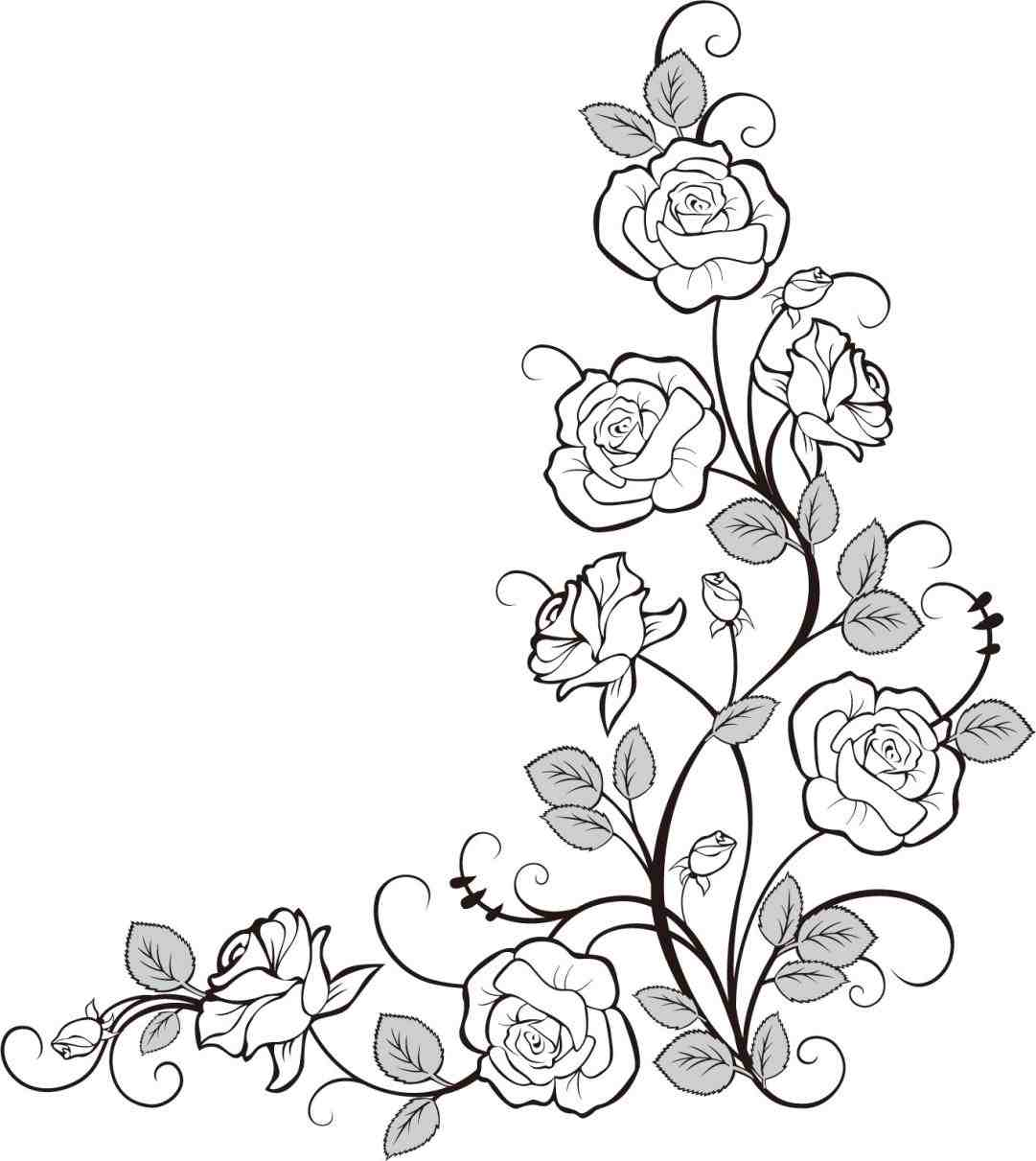 1081x1211 Designs To Draw Of Rosd Vines Hennainspired Design Ideas Leaves
