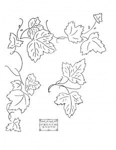 232x300 Grapevine Corner Haft Embroidery, Embroidery Ideas