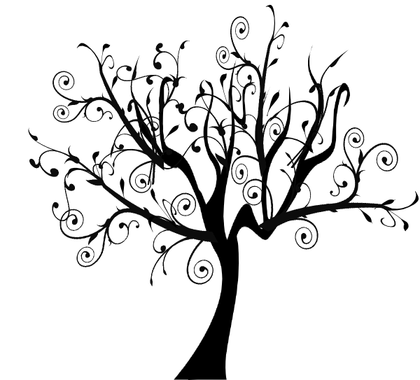 600x543 Drawn Vine Tree Vine