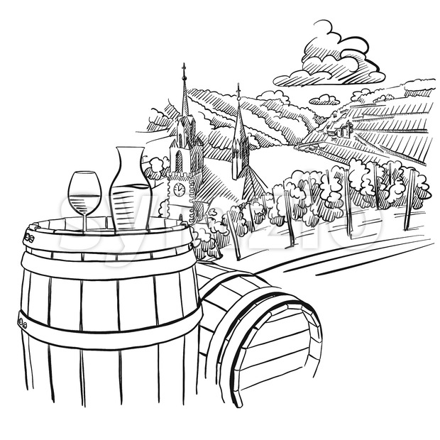 620x620 Glas Of Wine On Barrel In Front Of German Vineyard Landscape
