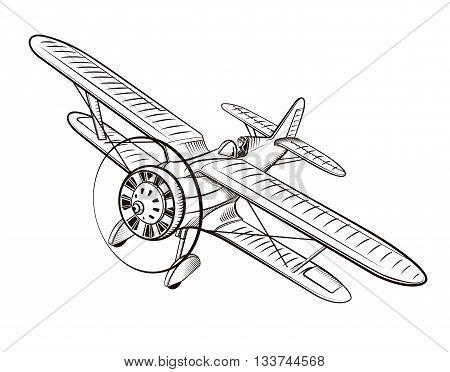 Vintage Airplane Drawing At GetDrawings