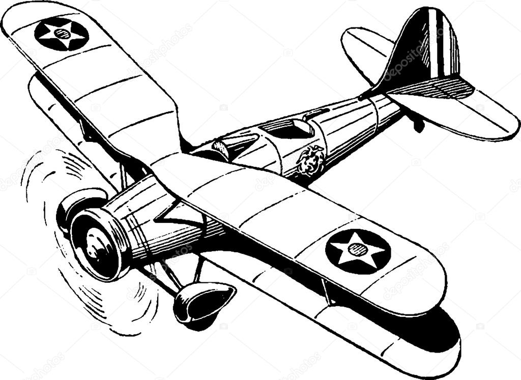 1024x747 Vintage Drawing Airplane Stock Photo