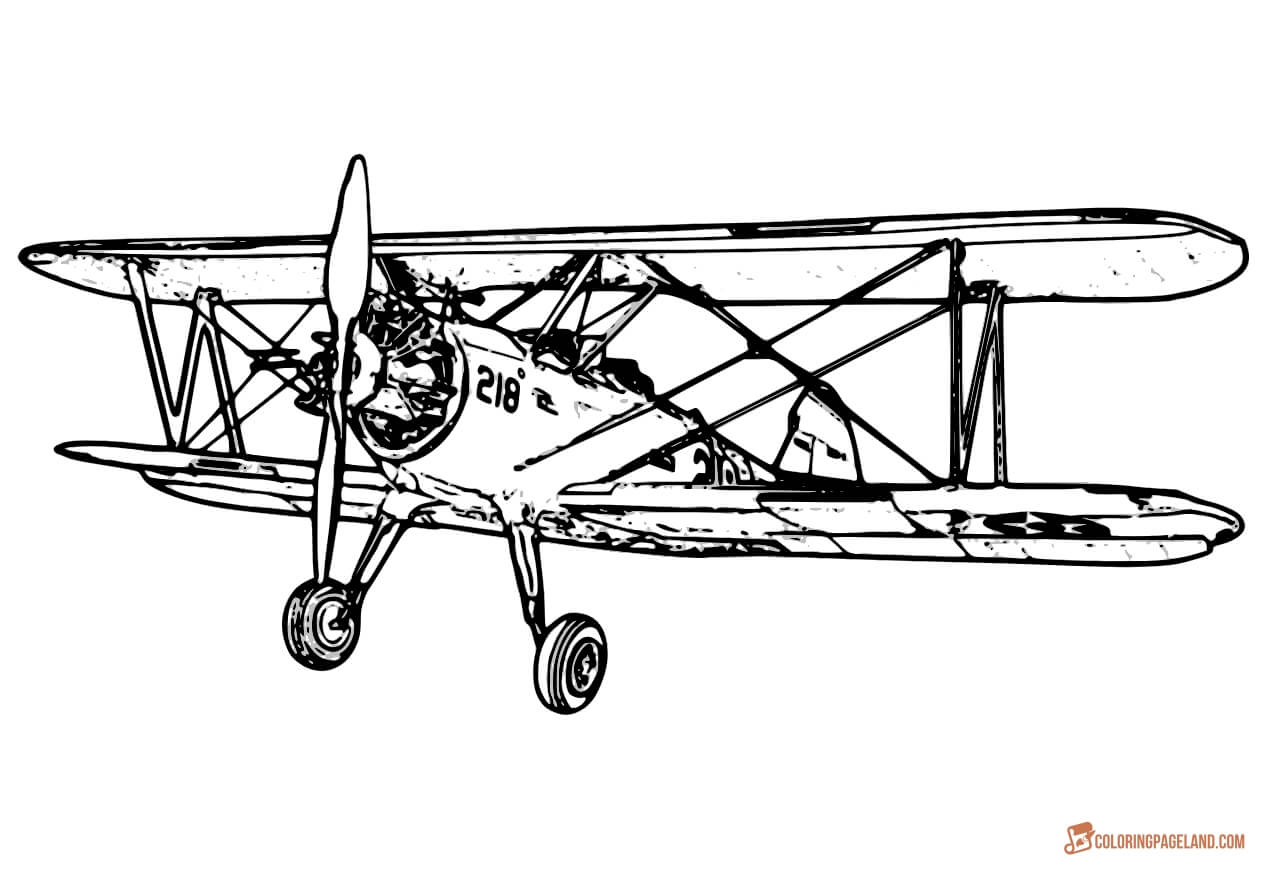 1280x870 Airplane Coloring Pages
