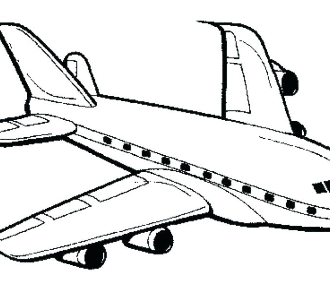 678x600 Airplane Coloring Pages To Print Pin Drawn Aircraft Page
