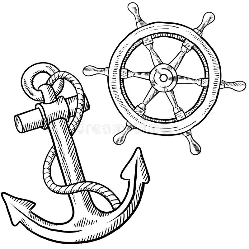 800x800 Drawn Anchor Ship Anchor