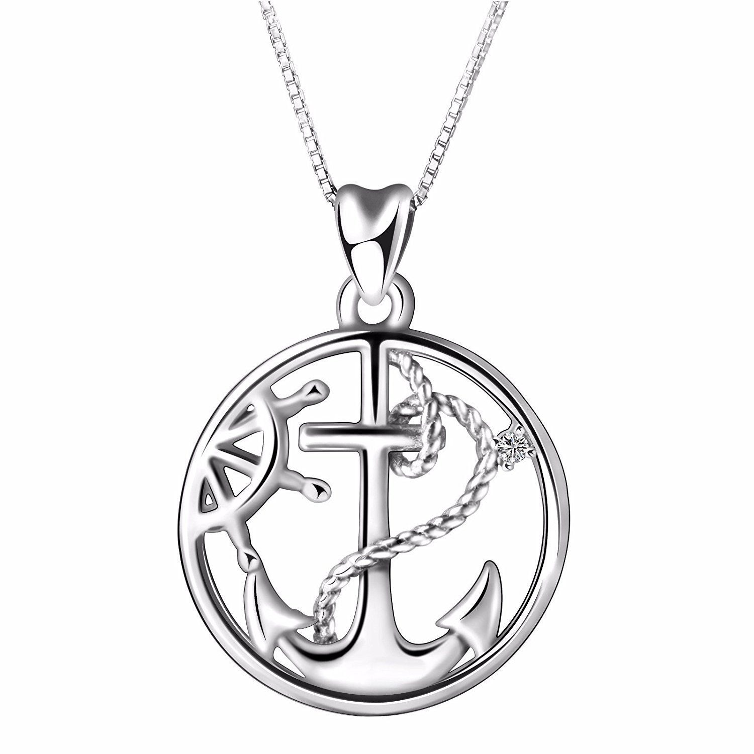 1500x1500 925 Sterling Silver Anchor And Infinity Nautical Symbol Of Hope