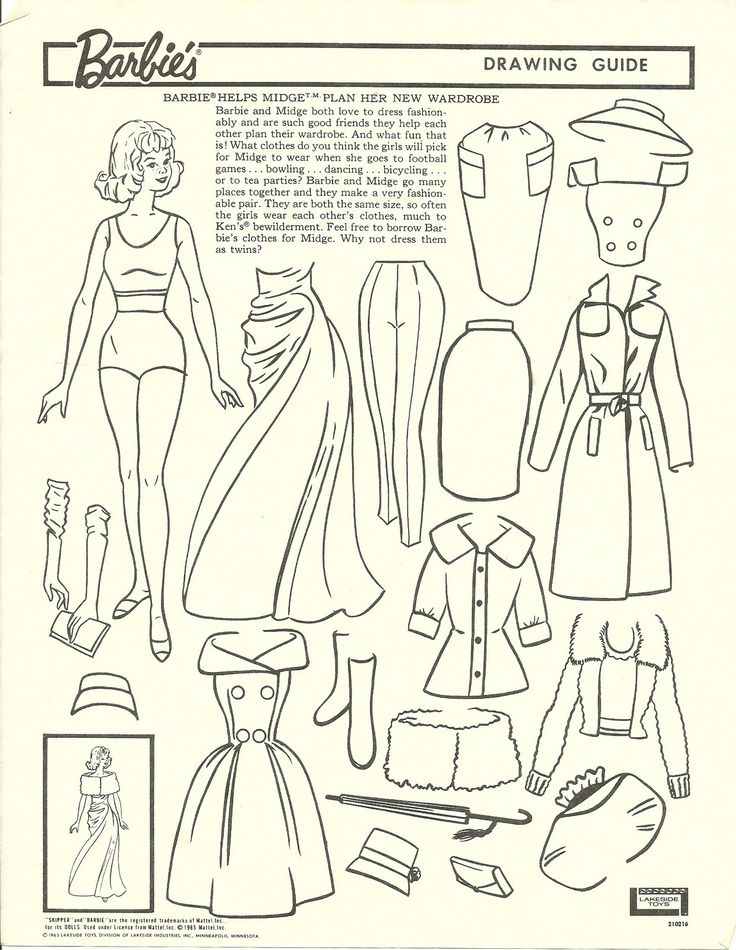 Vintage Barbie Drawing