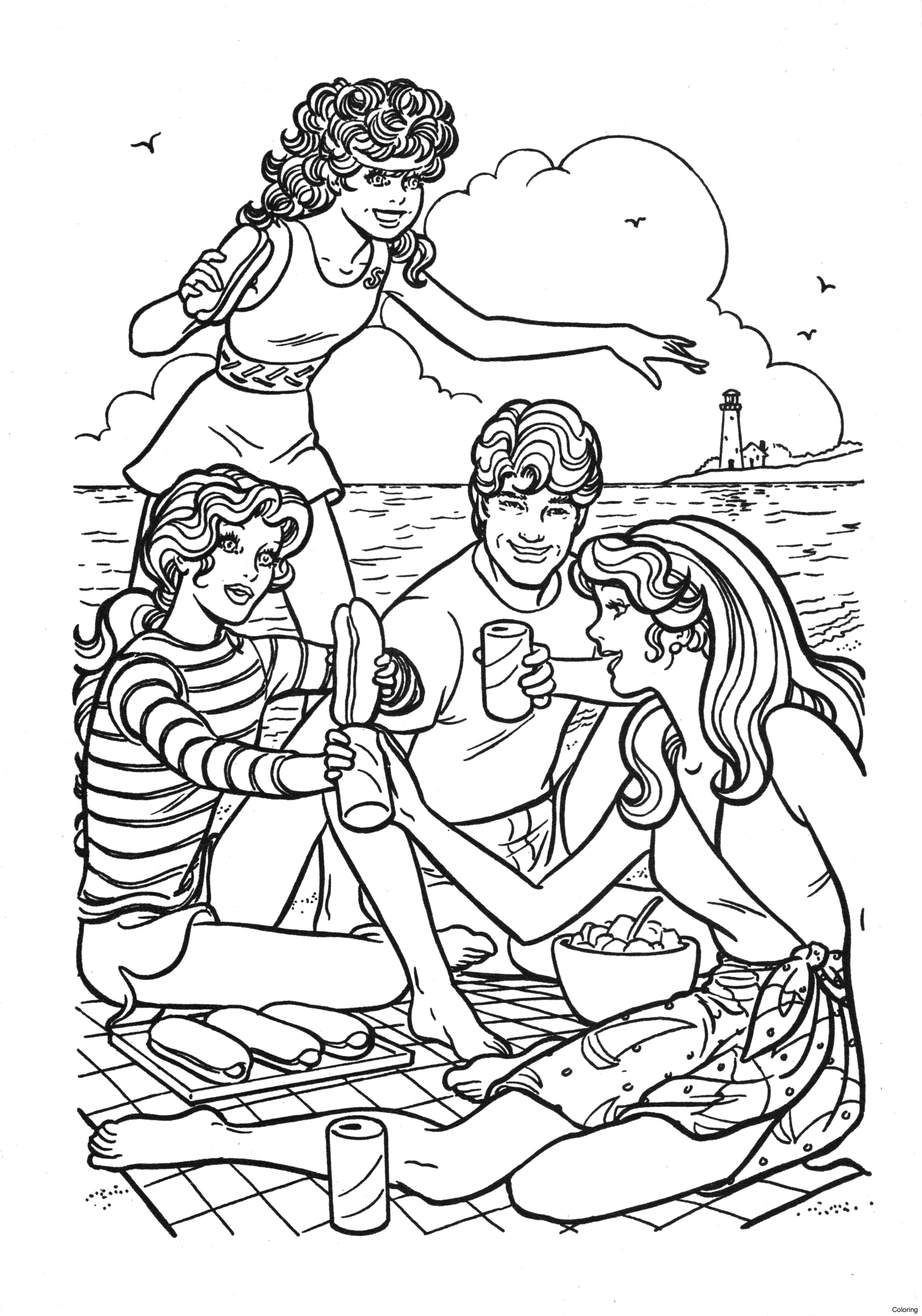 2281x3255 Barbie Coloring Pages Printable Books 14f For Sale Vintage Book