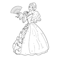 230x230 Top 50 Free Printable Barbie Coloring Pages Online