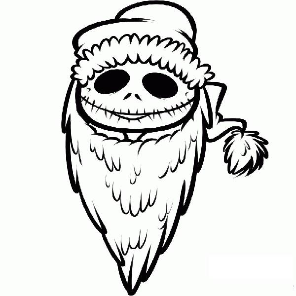600x600 Nightmare Before Christmas Line Drawing