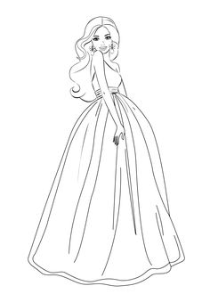 236x330 Pictures To Color And Print Girls Barbie Coloring Pages