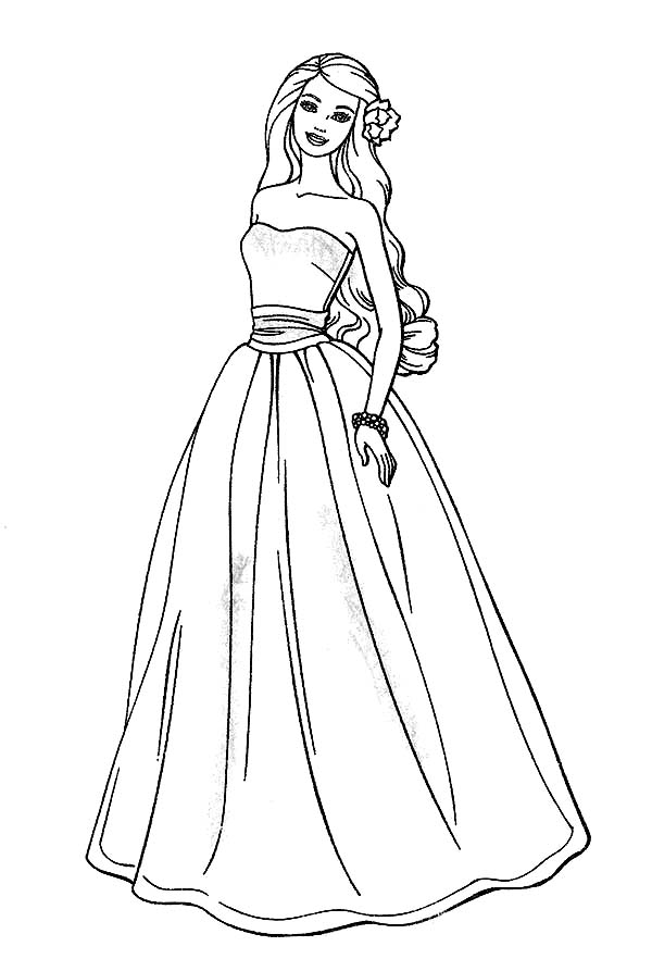 600x882 Awesome Barbie Doll Coloring Page Suad Barbie Doll