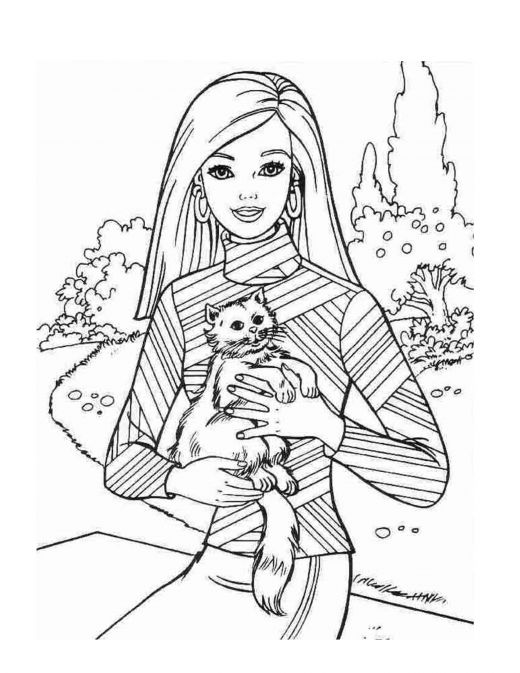 520x673 Barbie Coloring Page.143 Barbie World ~ Coloring Pages