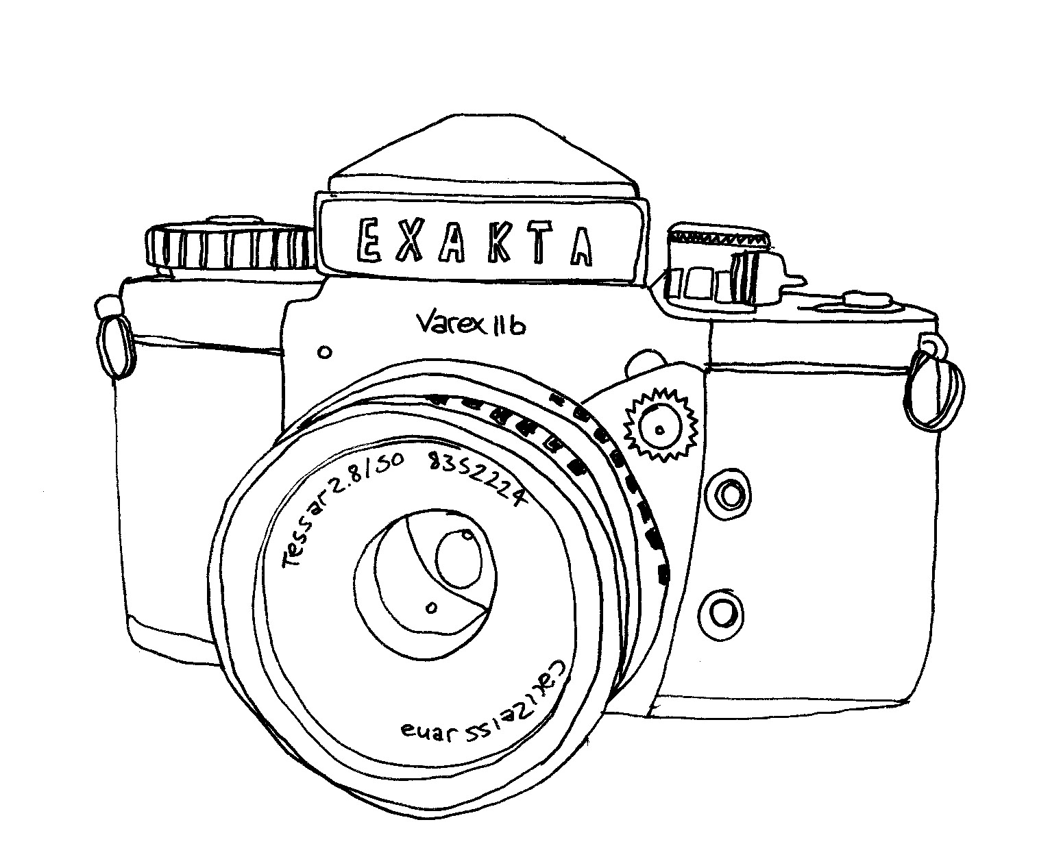 1532x1251 Little Bee Designs Vintage Camera's Quick Drawings.