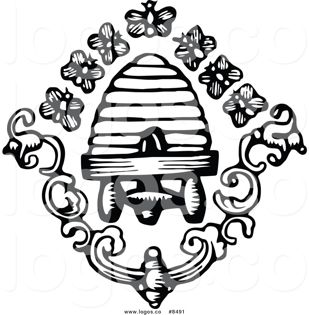 1024x1044 Royalty Free Clip Art Vector Logo Of A Black White Bees