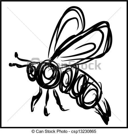 450x470 The Best Bee Sketch Ideas On Bee Drawing, Honey